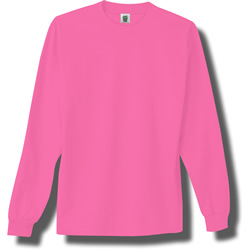 Long Sleeve Adult Neon T-Shirts