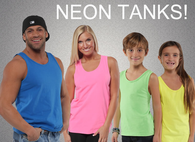 Wholesale direct true pigment dyed neon tees tanks and more for Neon colored t shirts wholesale